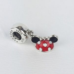 New! Pandora Disney Minnie Ear Hat dangle charm